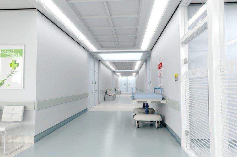 Piso antiderrapante hospital