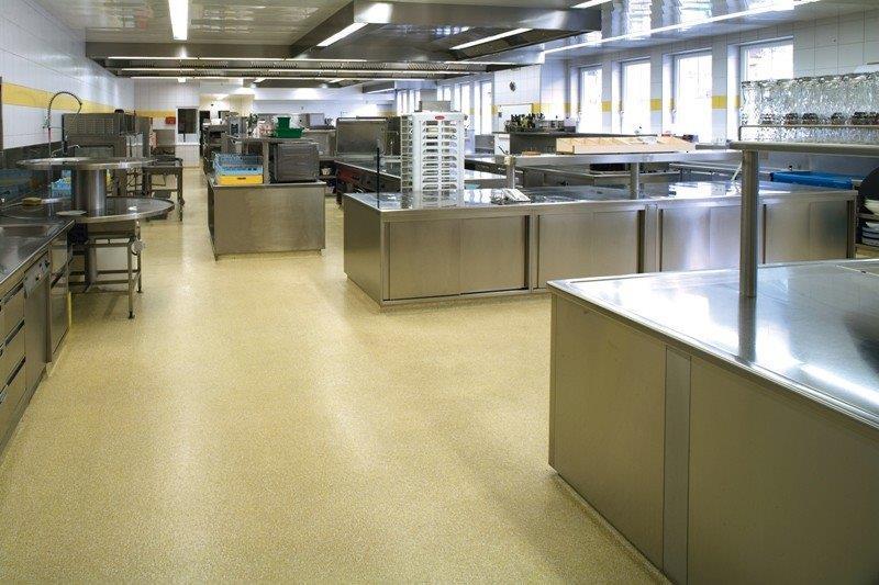 Revestimento piso cozinha industrial